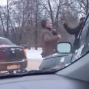 В Казани водители устроили драку на проезжей части