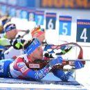Российские биатлонисты остались в шаге от медалей в эстафете на ЧМ