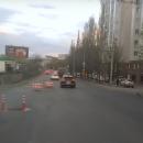 В Казани на Болотникова дорожники устроили водителям упражнение