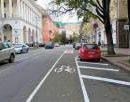 В центре Киева появилась новая полоса для велосипедистов