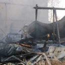 Появилось видео пожара в Казани: сгорел автосервис и находящаяся в нем машина