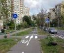 На Троещине появилась новая двухсторонняя велодорожка