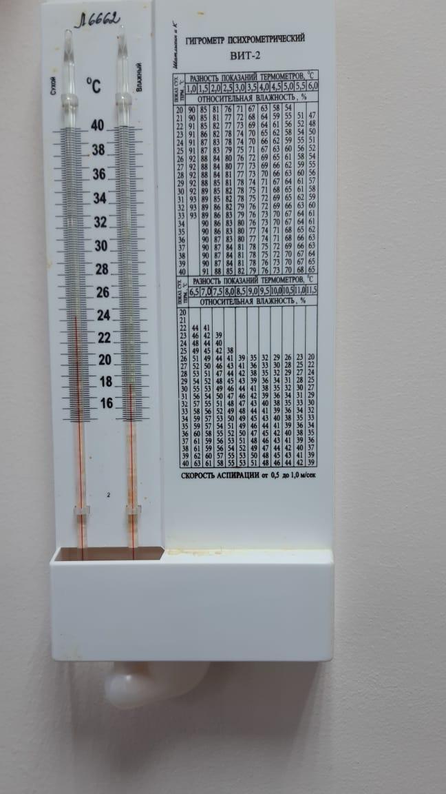 Из Минздрава прислали фото термометра из палаты в 16-й больнице