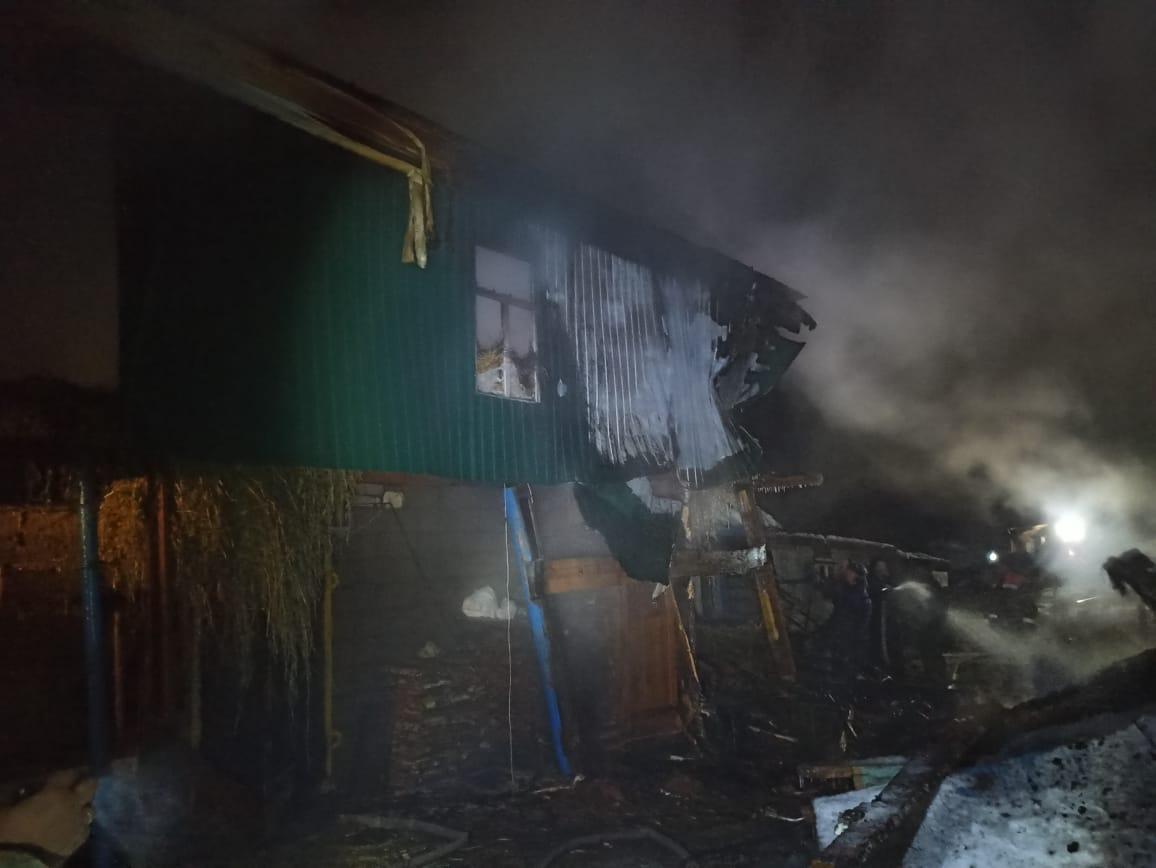 горит дом в рыбно-слободском районе, пожар в татарстане