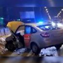 Очередное ДТП с участием такси произошло в Казани, пострадал водитель
