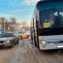 В Казани поймали водителя, который высадил детей из автобуса прямо на дорогу