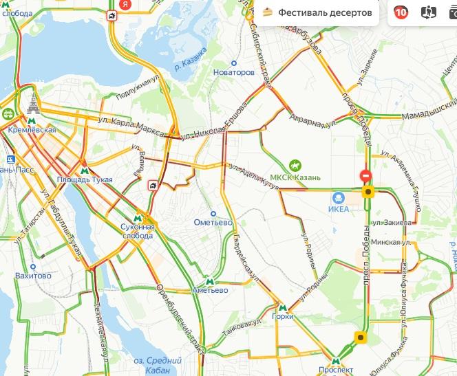 Пробки 10 баллов: в Казани снегопад создал дорожный коллапс