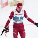 Большунов остался без медалей в гонке преследования на КМ