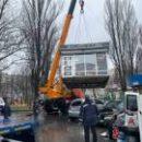 Демонтировали незаконные киоски возле метро «Лесная»