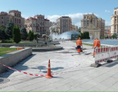 На Майдане Независимости выключили часть фонтанов