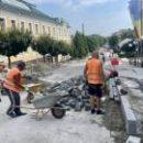 На части улицы Андреевской устроено новое покрытие