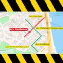 На Андреевском спуске ограничат движение до середины октября (схема объезда)