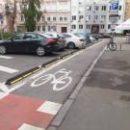 В Киеве впервые использовали новую технологию обустройства велодорожки